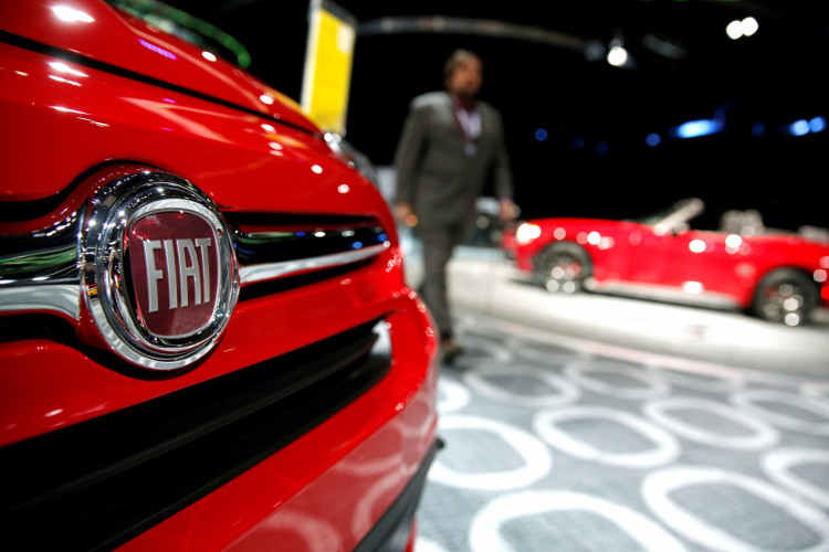 A Fiat car on display at the North American International Auto Show in Detroit